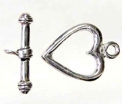 Love 1 Sterling Silver Heart Toggle Clasp 7936 - PremiumBead