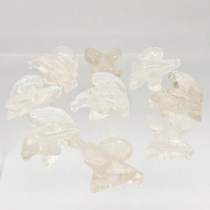 2 Soaring Carved Clear Quartz Eagle Beads | 22x16x13mm | Clear - PremiumBead