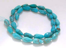 Load image into Gallery viewer, Natural USA Turquoise Teardrop Bead Strand | 14x7 to 13x6.5mm | 29 Beads |