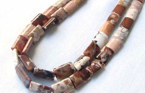 8 Patterned Conglomerate Jasper Rectangle Beads 009324 - PremiumBead