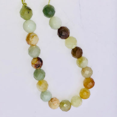 Mystical Fall Jade 10mm Faceted 20 Bead Half-Strand - PremiumBead Primary Image 1