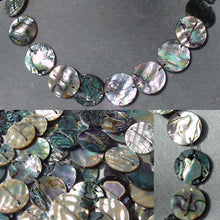 Load image into Gallery viewer, Exotic! Double- Drilled Abalone Coin Bead Strand 105063 - PremiumBead