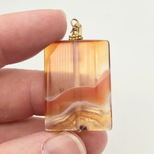 "Load image into Gallery viewer, Hand Carved Carnelian Agate and 14K Gold Filled 2 1/8"" Pendant 506759B - PremiumBead Alternate Image 7"