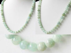 Natural Aquamarine 8mm Round Bead Strand 109696B - PremiumBead