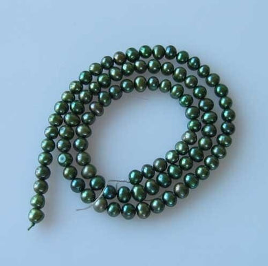 4-5mm Forest Green Freshwater Pearl 16