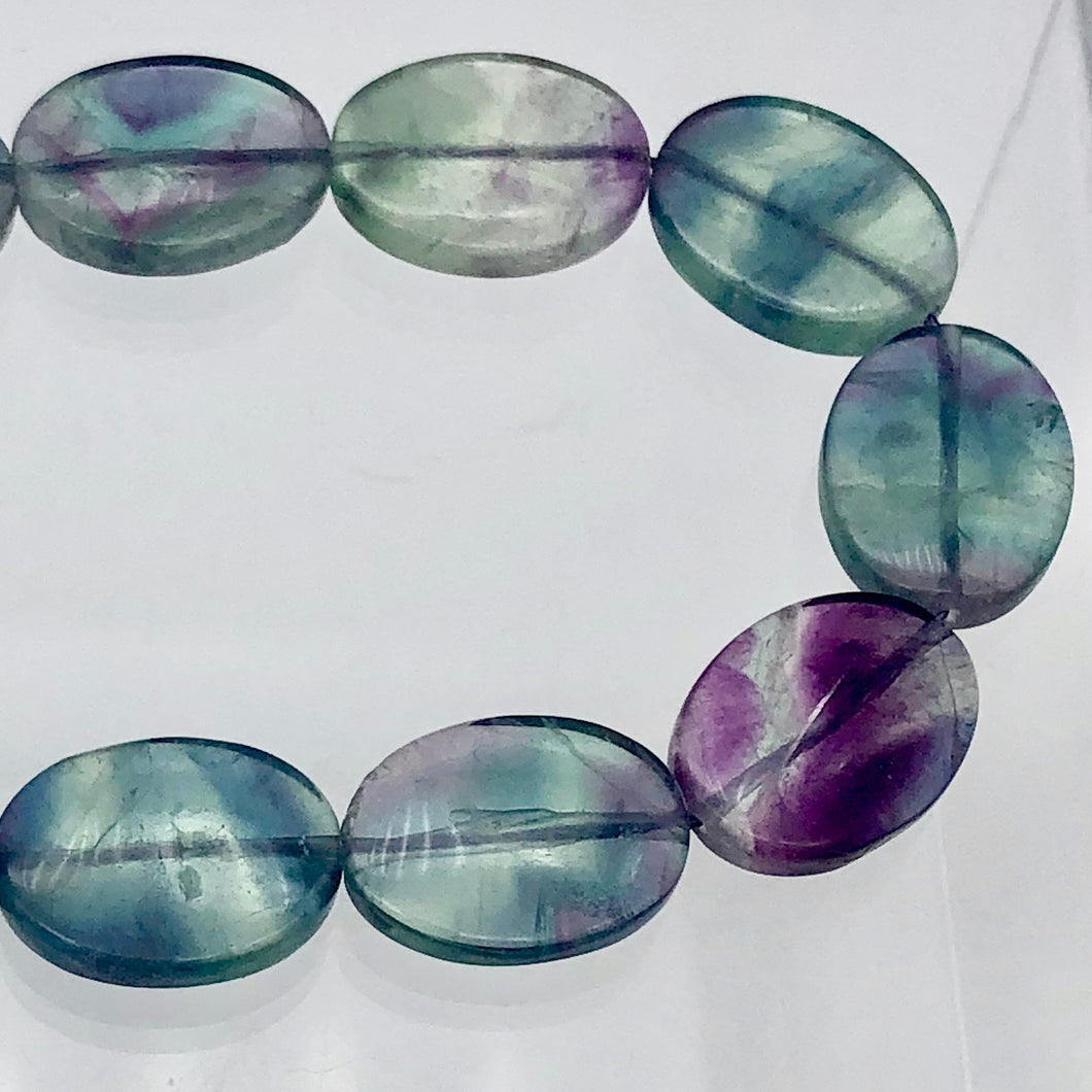 Rare! Carved 20x15mm Oval Fluorite 8