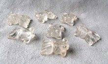 Load image into Gallery viewer, Swimmin' 2 Carved Animal Quartz Goldfish Beads | 20x14x8mm | Clear - PremiumBead