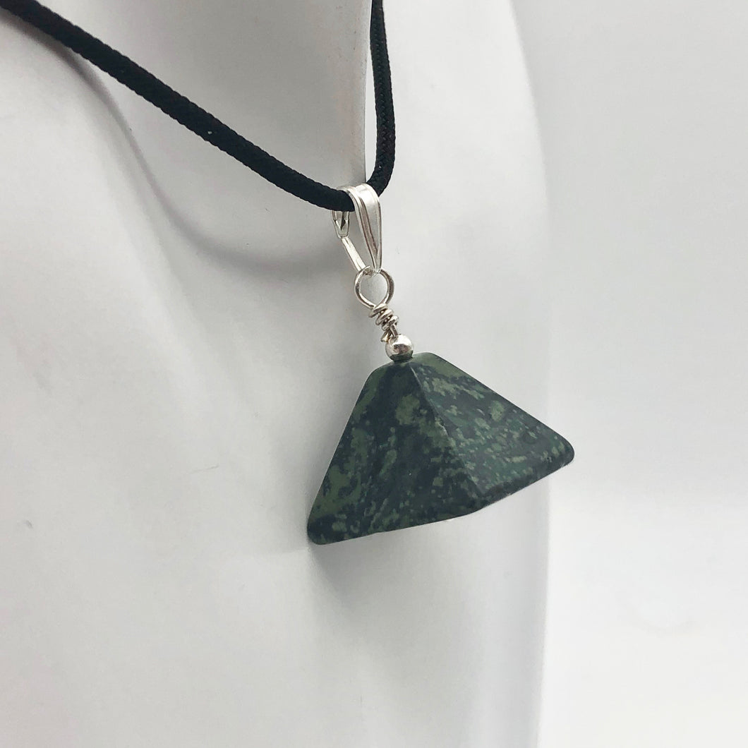 Contemplation! Kambaba Jasper Pyramid and Sterling Silver 1.13