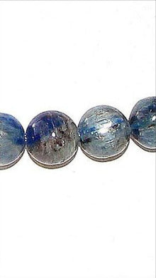 Rare! 2! Blue Kyanite 9mm Round Beads 008475 - PremiumBead