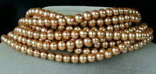 Load image into Gallery viewer, 8 Glamorous Golden Champagne 7.5x7mm FW Pearls 004482 - PremiumBead