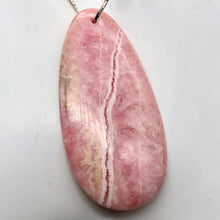Load image into Gallery viewer, Natural Lacy Pink Rhodochrosite Pendant Bead | 60x30mm| Pink | Teardrop | 1 Bd | - PremiumBead