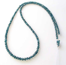 Load image into Gallery viewer, Blue Diamond Faceted Roundel Beads | 3-2.6mm | 9 Beads | ~1.0 carat |10597A - PremiumBead