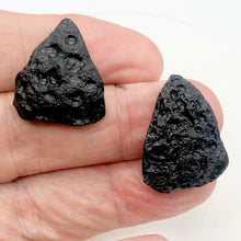 Load image into Gallery viewer, 2 Unique Pendant Size Black Meteor Fragments 11 grams | 29x21x8 to 27x22x8mm | - PremiumBead Primary Image 1