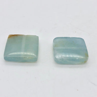 2 Unique Aquamarine Square Pendant Beads | 15x15x4mm | Blue | 2 Bead | 008145 - PremiumBead