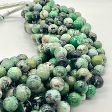 Load image into Gallery viewer, Very Rare Spiderweb Green Turquoise 12mm Bead Strand 107535 - PremiumBead