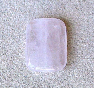 Pretty in Pink Rose Quartz 30x22mm Rectangle Pendant Bead 7545 - PremiumBead