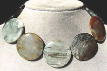 Load image into Gallery viewer, Cat's Eye Chrysoberyl Quartz Flat 35x5mm Disc Bead Strand 105615 - PremiumBead