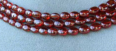 1 Finest AAA Hessonite Red Garnet 9 to 10mm Bead 1227E - PremiumBead