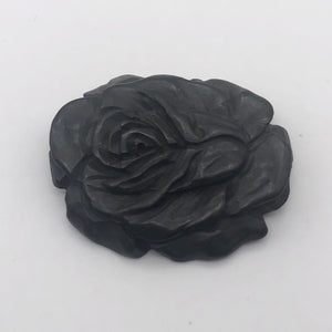 Flora Curved Carved Bone Rose Flower Pendant Bead 10627 - PremiumBead