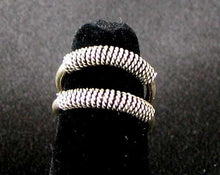 Load image into Gallery viewer, Exotic!! Double 925 Solid Sterling Silver Size 5 Ring 5835 - PremiumBead