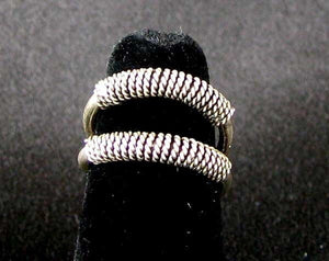 Exotic!! Double 925 Solid Sterling Silver Size 5 Ring 5835 - PremiumBead