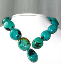 Load image into Gallery viewer, 735cts Natural USA Turquoise Oval 16 Bead Strand 108476 - PremiumBead Alternate Image 2
