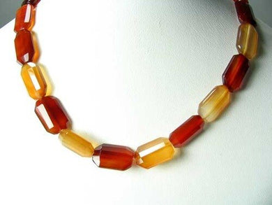 Premium! Faceted Natural Carnelian Agate 12x18mm Rectangular Bead Strand 110600 - PremiumBead Primary Image 1