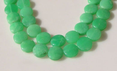 Radiant 2 Natural Chrysoprase Agate 12x5mm Coin Beads 9574A - PremiumBead Primary Image 1