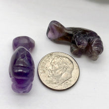 Load image into Gallery viewer, Grace Carved Amethyst Manatee Bead Figurine | 27x10x12mm | Purple - PremiumBead