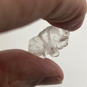 charge-2-quartz-hand-carved-bison-buffalo-beads-21x14x8mm-clear-15371
