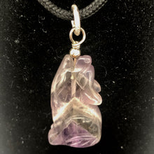 Load image into Gallery viewer, new-moon-amethyst-gray-wolf-solid-sterling-silver-pendant-1-44-long-10126