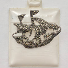 Load image into Gallery viewer, Clipper Sailing Ship Sterling Silver Lapel Brooch Pin | 25x28mm | 1 inch tall | - PremiumBead