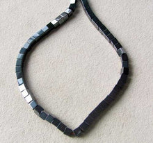 Load image into Gallery viewer, metallic-hematite-4x4x4mm-cube-bead-16-inch-strand-107570-10852