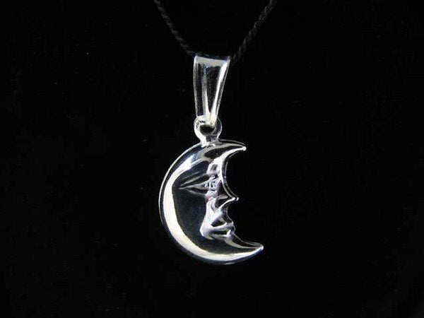 Sterling Silver Man in The Moon 3D Charm Pendant 9967U - PremiumBead Primary Image 1