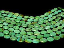Load image into Gallery viewer, 2 Natural 16x12x5mm Turquoise Skipping Stone Focal Beads 2194 - PremiumBead