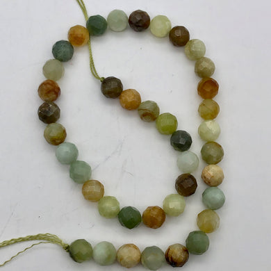 Mystical Fall Jade 10mm Faceted Bead Strand - PremiumBead Primary Image 1