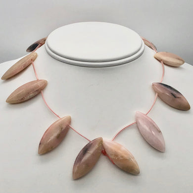 Pink Peruvian Opal Marquis Briolette 12 Bead Strand 10815G - PremiumBead