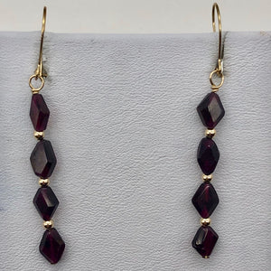 14K Gold Filled Red Pyrope Garnet Earrings | 2 inches long | - PremiumBead Alternate Image 8