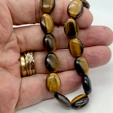 Load image into Gallery viewer, Wildly Exotic Tigereye Oval Coin Bead 16 inch Strand for Jewelry Making - PremiumBead