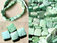 Load image into Gallery viewer, 4 Beads of Mojito Mint Green Turquoise Square Coin Beads 7412F - PremiumBead