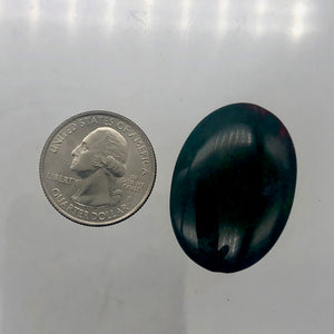 Rare Huge 25x17mm Bloodstone Oval Pendant Bead 5624 - PremiumBead