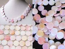 Load image into Gallery viewer, Rare Pink Conch Shell 14mm Coin Bead Strand 109828 - PremiumBead
