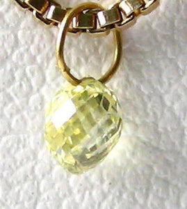 0.35cts Natural Canary Diamond 18K Gold Pendant 8798Dd - PremiumBead Alternate Image 3