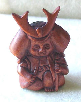 warrior-carved-boxwood-fierce-samurai-ojime-netsuke-bead-28-5x20x13mm-brown-12360