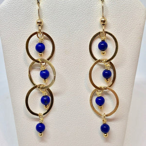 Natural AAA Lapis with 14Kgf Earrings 310268 - PremiumBead