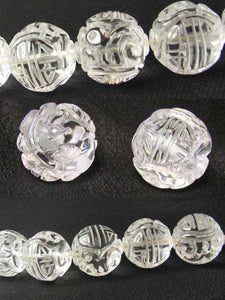 1 Unique Hand Carved Long Life Natural Quartz 19mm 10357A | 19mm | Clear - PremiumBead Primary Image 1