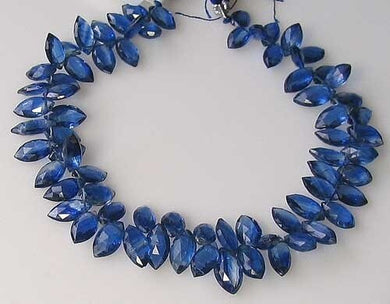 92cts AAA Kyanite Faceted Briolette Bead Strand 109918A - PremiumBead Primary Image 1