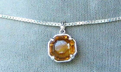 Stunning Deep Honey Tourmaline Faceted Coin & Sterling Silver Pendant 6316B - PremiumBead Primary Image 1