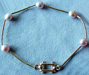 Supple Smooth As Satin Delicate Pink Pearl & 14Kgf Bracelet 400002 - PremiumBead