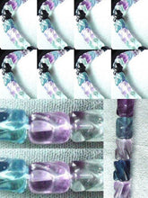 Load image into Gallery viewer, Gemmy Carved Tube Fluorite Bead Strand 103390A - PremiumBead